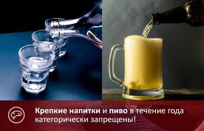 Можно ли после лапароскопии пить водку