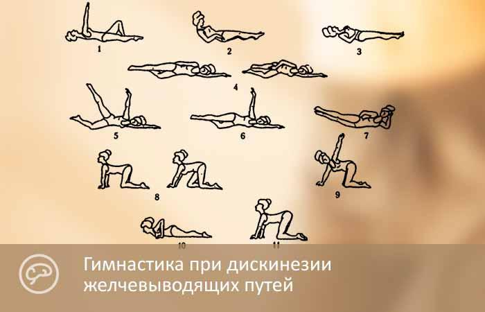 Гимнастика при дискинезии желчевыводящих путей