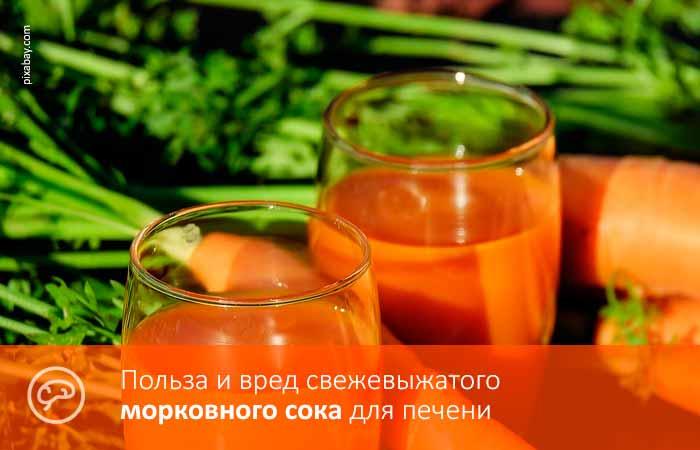 Польза и вред свежевыжатого морковного сока для печени