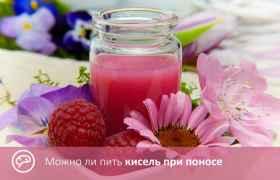 Можно ли пить кисель при поносе